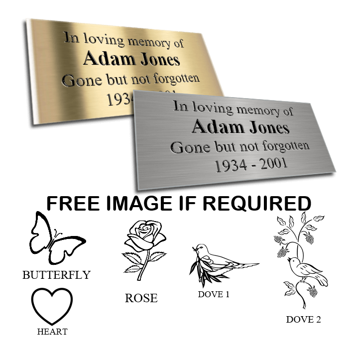 Laminate Memorial Plaques